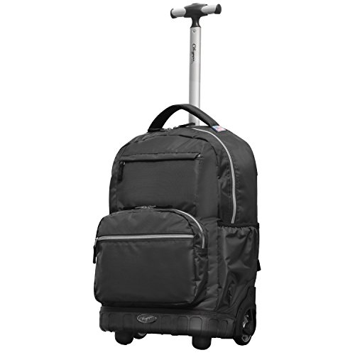 Olympia Gen-X 19 Inch Rolling Backpack, Black, One Size