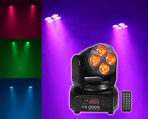 Rockville RockOn-7 40w RGBW Moving Head DMX Spot Beam Stage Club Light+Remote