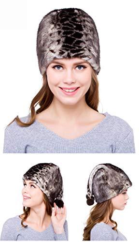 Señoras Para Tamaño Cm Sombrero Adecuado Libre Invierno Terciopelo Al De El Aire Más Hesheng 57 Cm 53 Piel Exterior Moda Sombrerería zvUZ5Uwq