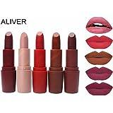 ALIVER Lipstick 5 Color Set Long Lasting 5pcs Kit
