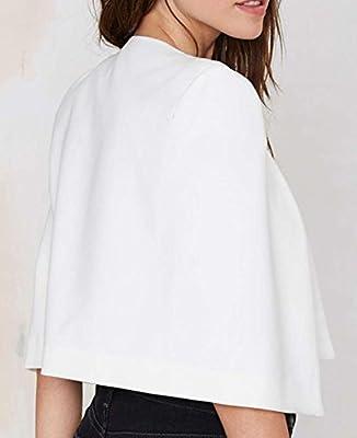 Difyou Women's Open Front Fitted OL Short Coat Cape Shawl Blazer