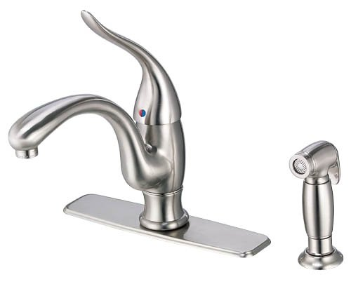 Danze D405521SS Antioch Single Handle Kitchen Faucet with Side Spray, Stainless Steel