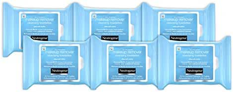 Neutrogena Makeup Remover Cleansing Towelettes & Wipes Refill Pack, 25 Count (Pack of 6)