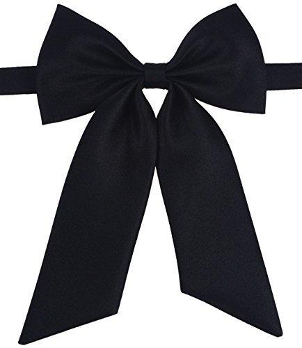 (SISIDI Women's Solid Color Bowties, Pre-tied Bow Ties - Various Colors (black))