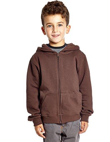 Leveret Kids Cotton Hoodie (12 Years, Brown)