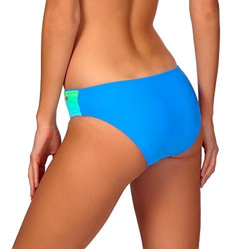 aQuarilla Deslizamiento del bikini para mujer Barbados Azul/Turquesa