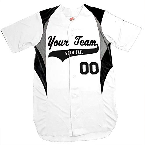 Hardkor Sports Cutoff Customized Baseball Jersey Adult Large In White and Black