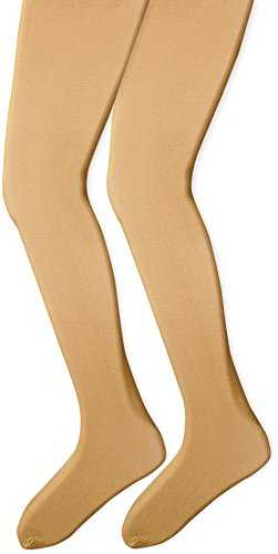 Tights Lurex Gold (Country Kids Big Girls' Sparkly Tights 2 Pairs, Gold, 9-11 Years)