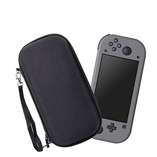 NOGOQU Plain Black EVA Tough Case Pouch Travel Carry Bag for NS Switch Lite Console Waterproof Shield EVA Tough Case