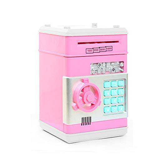 OSOPOLA Electronic Password Money Bank - Saving Banks ATM Coin Banks - Cash Coin Can Piggy Box - Toys Birthday Gift for Children Kids (Pink)]()