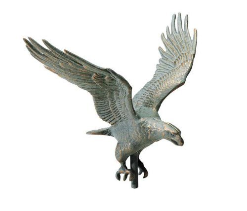 Whitehall Products Traditional Directions - Whitehall Products Full-Bodied Eagle Weathervane, 30-Inch, Verdigris