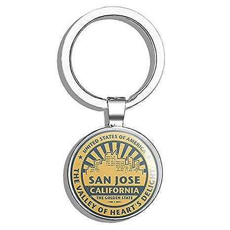 Amazon.com: San Jose California USA - Llavero de acero ...