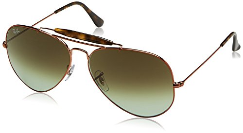 Ray-Ban Men's Outdoorsman Ii Aviator Sunglasses, Shiny Medium Bronze, 62 - Pilot Sunglasses Ban Ray