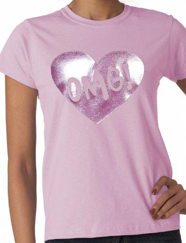 Print4U Damen T-Shirt Rosa Pink Medium