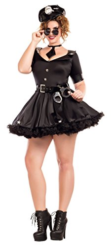 Party King Women's Cuff Me Honey Plus Size Costume, Black, 2X-Large