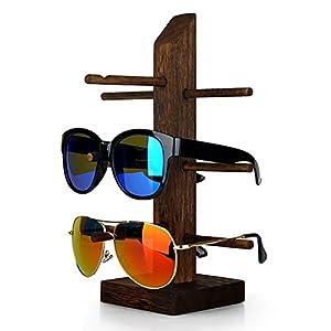 Wood Wenge Sunglass Dispaly Holder Glass Display Stand Glass Display Showcase (3-Layer)