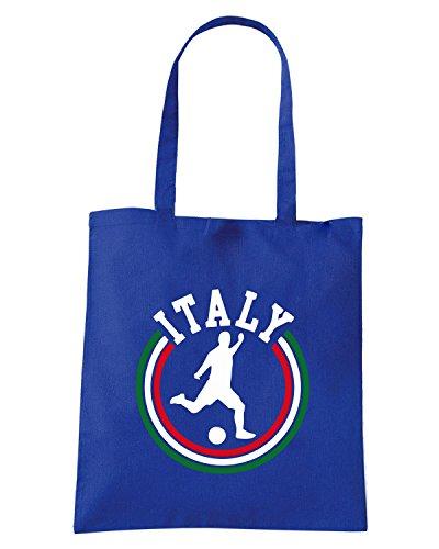 T-Shirtshock - Bolsa para la compra WC0086 ITALIA ITALY Azul Real