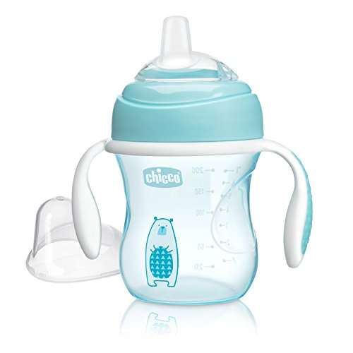 - Chicco NaturalFit Soft Silicone Spout Transition Sippy Cup, Blue, 7 Ounce