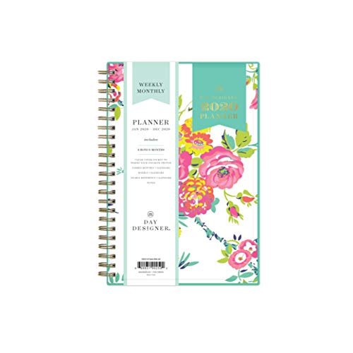 "Day Designer for Blue Sky 2020 Weekly & Monthly Planner, Flexible Cover, Twin-Wire Binding, 5"" x 8"", Peyton White from Blue Sky"