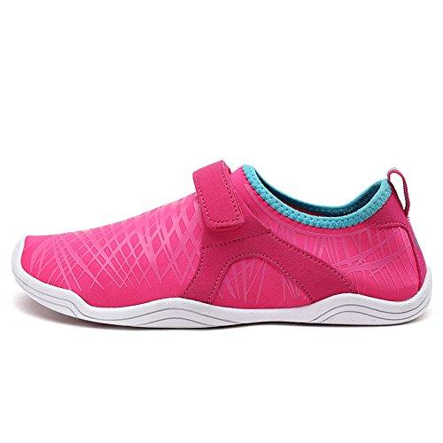 TRAUM-PAAR-Frauen Beleg auf athletischen Wasser-Schuhen Fuchsia Blau