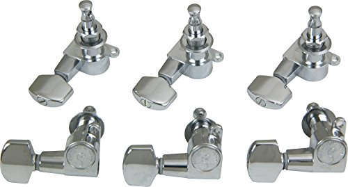 Schaller M6 Mini Tuning Machine Heads 6 In-Line Chrome (Tuning Keys Schaller)