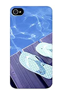 Design For Iphone 4/4s Premium Tpu Case Cover Colorful Slippers Protective Case