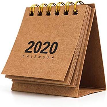 Haorw Tischkalender 2020 - Mini Schreibtisch Kalender Für Büro Und Zuhause, 6.4×6.8cm