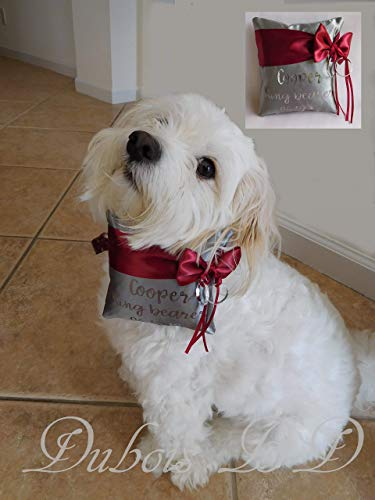 Personalized dog Ring Bearer Pillow, Wedding pillow, Dog Ring pillow