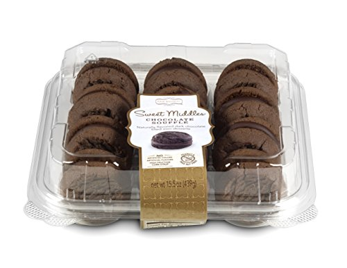 Corn Souffle (Our Specialty Sweet Middles, Peanut and Tree Nut Free, Mini Cream Filled Sandwich Cookies, Chocolate Soufflé, 12 Cookies per Pack, Pack of 2)