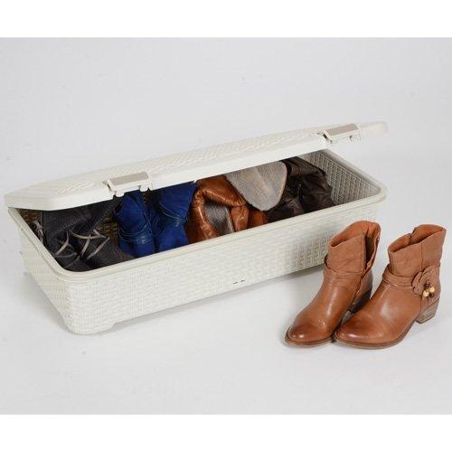 Curver caja style roller 42l vintage organizador bajo for Cajas bajo cama carrefour