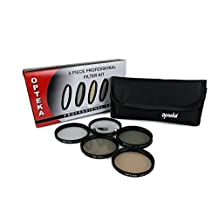 Opteka 62mm High Definition II Professional 5 Piece Filter Kit includes UV, CPL, FL, ND4 and 10x Macro Lens