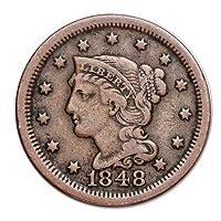1839-1857 centavo grande del pelo trenzado por US Mint