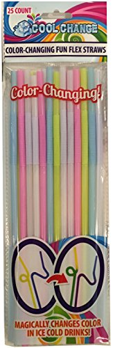 FunFlex Color Changing Disposable Straws - Slim