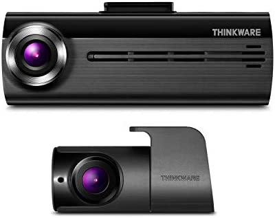 THINKWARE F200 Dash Cam Full HD 1080P with Rear Cam, 16GB MicroSD, Cigarette Power Cable Included Built-in Wi-Fi Supercapacitor Support 128GB Max