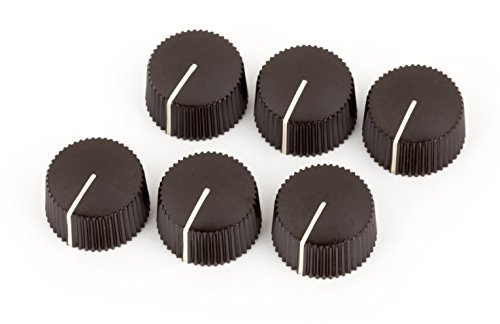 Fender Pure Vintage Radio Amplifier Knobs - Dark Brown