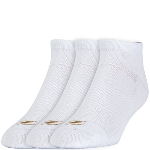 - PowerSox Men's 3-Pack Cushion Low Cut Socks with Coolmax White 10-13(9-12.5 shoe size)