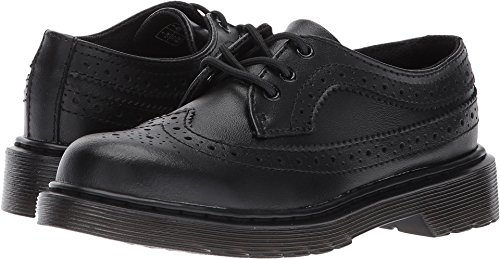 Dr. Martens Kid's Junior 3989 Wingtip Oxfords, Black, 2 Little Kid M UK, 3 M US -