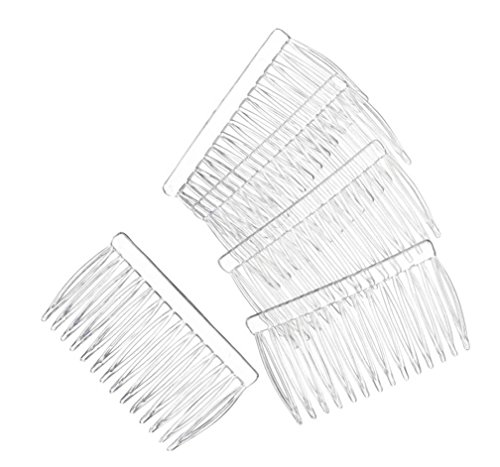 14 Clear Plain Plastic Smooth Hair Clips Combs 2 34 LONG Free Shipping