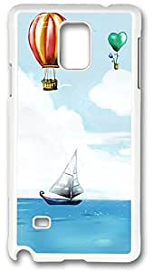 Balloons And Boat Case Cover for Samsung Galaxy Note 4, Note 4 Case, Galaxy Note 4 Case Cover