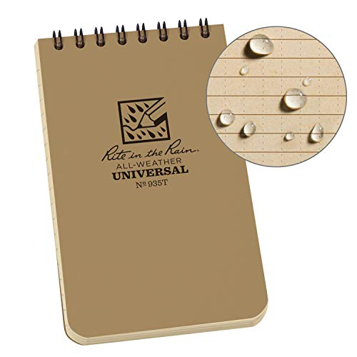 Rite in the Rain Weatherproof Top-Spiral Notebook, 3