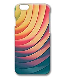Retro Rainbow Stripes Shadows Protective Hard PC Snap On 3D Case for iphone 6 Plus 5.5-1122096