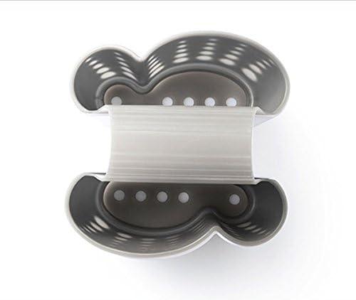 Blanco Sink Caddy Soporte de esponja Soap Holder Drenaje de cocina Saddle Sink Caddy Soporte de esponja New Sponge Holder Sink Caddy Soap Holder for Kitchen Cestas de almacenamiento de pl/ástico