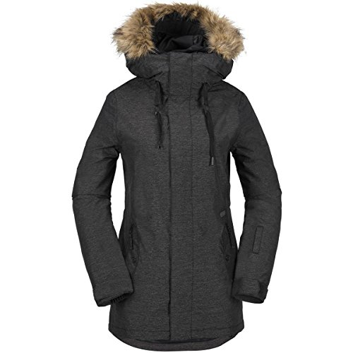 Volcom Women's Mission Insulated Jacket, Black, M