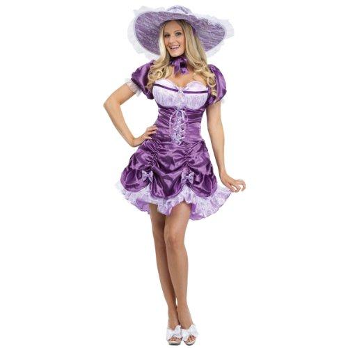 FunWorld Sexy Southern Belle, Purple, 10-14 Medium/Large Costume -