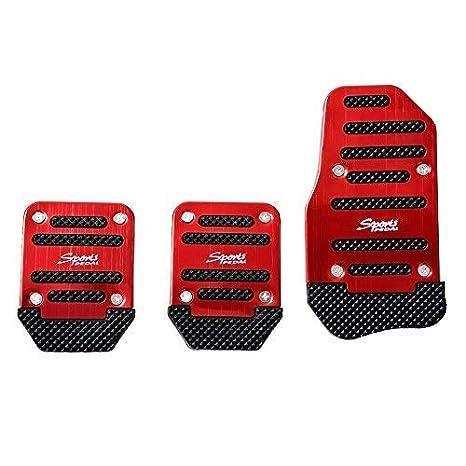 VW Lexus,Renault. Mazada,Porsche SZSS-CAR 3pcs Nonslip Car Pedal Pads Auto Sports Gas Fuel Petrol Clutch Brake Pad Cover Foot Pedals Rest Plate Kits For Honda,Toyota