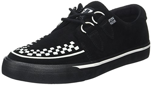 T.U.K. Unisex Erwachsene VLK D Ring Creep Sneak Blk SDE WHT Int High Top Schwarz