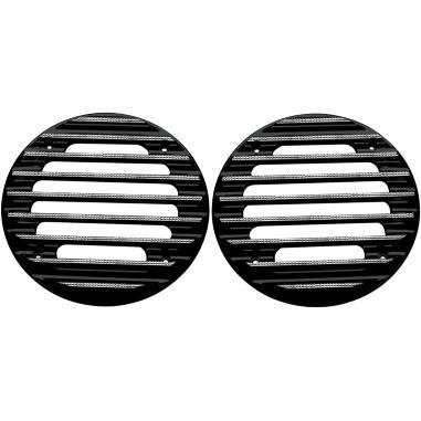 Covingtons Rear Finned Speaker Grilles - Black Diamond Edge C0022-D by Covingtons