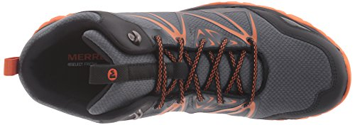Merrell Capra Rise Mid Waterproof Trail Hiking Stivali Grey