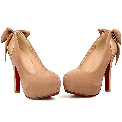 Wedding Platform Suede High Bow Ivory Party LongFengMa Heel with Pumps Women Shoes wOqqR4