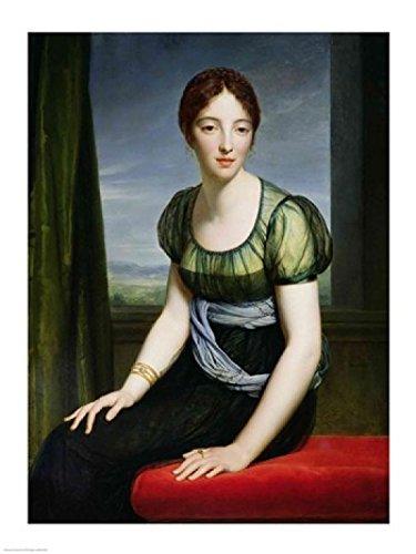 Francois Gerard – Portrait de Madame Regnault de Saint- Jean d'Angely Impression d'art Print (45,72 x 60,96 cm)